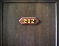 Room number 212 Stock Photography