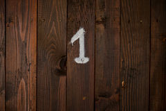 Room number 1 Royalty Free Stock Photography