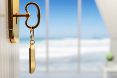 Room with ocean view - The start of a great vacation (shallow DO Royalty Free Stock Images