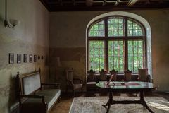 Room in old castle Stock Image