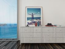 Room overlooking the sea Stock Image