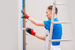 Free Room Paint Finishing Details Royalty Free Stock Image - 69849916