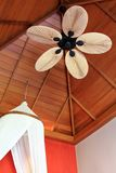 A room with Palm Leaf-Shaped Ceiling Fan Blade Stock Photos