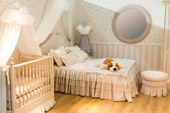 Room for parents and children Stock Photos