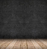 Room perspective ,blackboard wall and wooden floor Royalty Free Stock Images