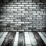 Room perspective,Grunge Brick wall and wood ground Stock Image