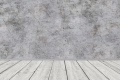 Room perspective,grunge grey concrete wall and wooden plank grou. Room perspective,grunge grey concrete wall and wooden plank grou Stock Image