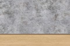 Room perspective,grunge grey concrete wall and wooden plank grou. Room perspective,grunge grey concrete wall and wooden plank grou Royalty Free Stock Photos