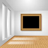 Room with picture frame Royalty Free Stock Images