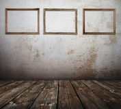 Room with picture frames Royalty Free Stock Images