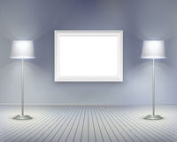 Room with picture.  Vector illustration. Royalty Free Stock Photo