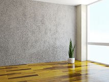 Room with a plant Stock Images