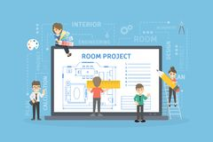Room project plan. royalty free illustration