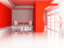 Room in red color Royalty Free Stock Images