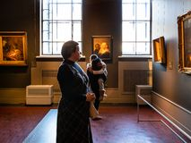 Room of Rembrandt school artists in Pushkin Museum royalty free stock photography