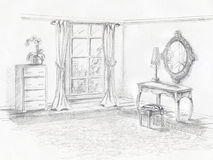 Room Rendering Stock Images