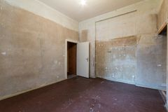 Room before renovation - empty flat Royalty Free Stock Images