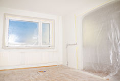Room renovation. stock photos