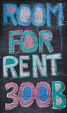 ROOM FOR RENT, handwrite Royalty Free Stock Photography