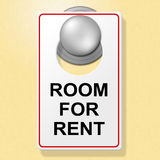 Room For Rent Indicates Place To Stay And Booking Royalty Free Stock Photo