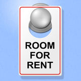 Room For Rent Means Place To Stay And Book Royalty Free Stock Image