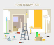 Room repair in home. Interior renovation in apartment and house. Royalty Free Stock Image