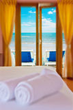 Room resort at white beach Stock Image
