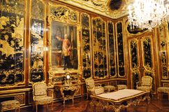 Room decorated with oriental motifs in the palace of the Austrian emperors Stock Image