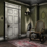 Room with a rocking chair Royalty Free Stock Photos