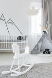 Room with rocking horse Royalty Free Stock Photos