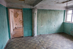 Room in a ruined house Royalty Free Stock Photos