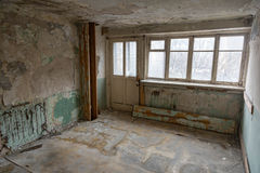 Room in a ruined house Stock Images