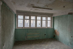 Room in a ruined house Stock Image