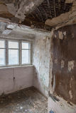 Room in a ruined house Royalty Free Stock Photo