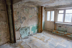 Room in a ruined house Stock Photos