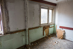 Room in a ruined house Stock Photography