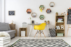 Room in scandinavian style stock images