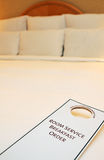 Room Service. Hotel Room Service sign card royalty free stock image