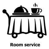 Room service icon, simple black style Royalty Free Stock Photos