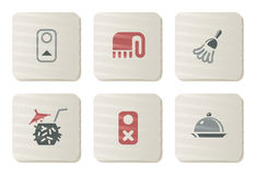 Room service icons | Cardboard series Royalty Free Stock Photos