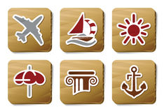 Room service icons | Cardboard series royalty free illustration