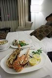 Room service lobster Royalty Free Stock Photography