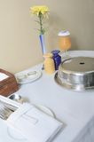 Room Service Table Set Up stock images