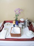 Room Service Table Set Up royalty free stock image