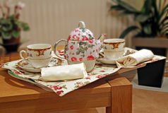 Room service tea tray Royalty Free Stock Photo