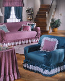 Room set shot in studio. Couch chair and stairs country look and feel royalty free stock image