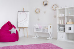 Room in shades of pink royalty free stock photography