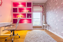 Room in shades of pink Royalty Free Stock Photo