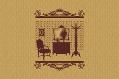 Room silhouette. Furniture. Stock Photography