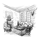 Room Sketch Background Royalty Free Stock Photography